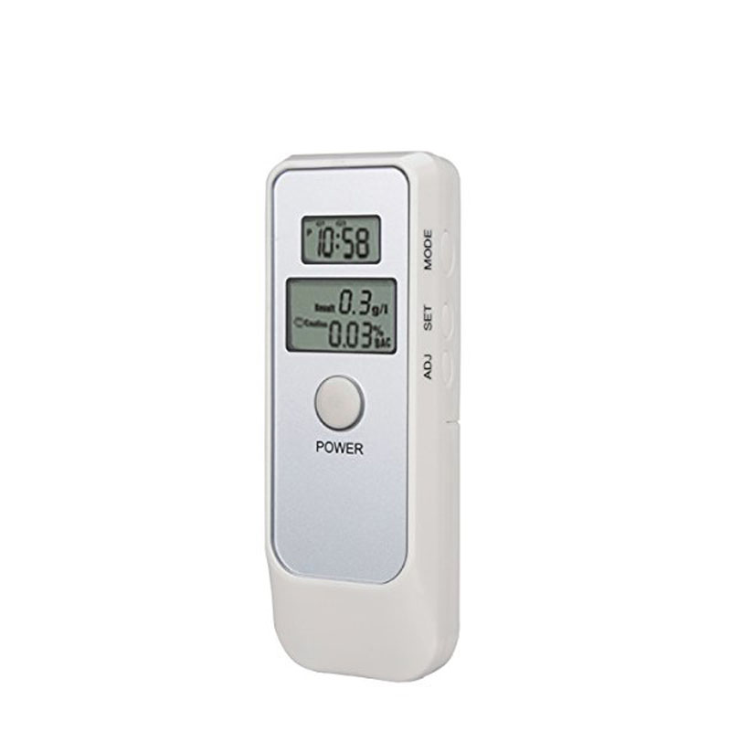 Portable Digital Alcohol Breath Tester Pocket Alcohol Hydrometer Analyzer Breathalyzer Detector Test + LCD Clock CSL2016(China (Mainland))