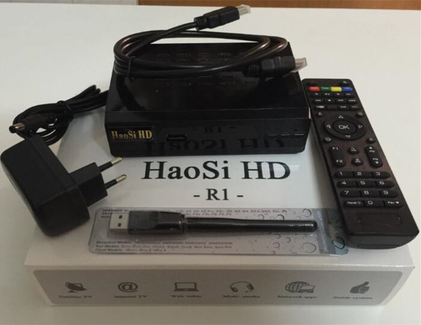 Free wifi dongle,satellite receiver HaosiHD R1 box,iptv italy,free 1800 UK Italy French Germany Africa Somla,USA channel(China (Mainland))