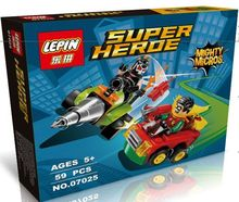 LEPIN 07025 DC Hero Mighty Micros Series  Bane/Robin Fighting Minifigures Building Block Toys Classic Movie Decoration Gift