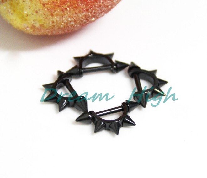 New Arrival Titanium Eyerow Piercing Black Eyebrow rings Body Jewelry 100pcs/lot Promotional gift Free Shipping(China (Mainland))