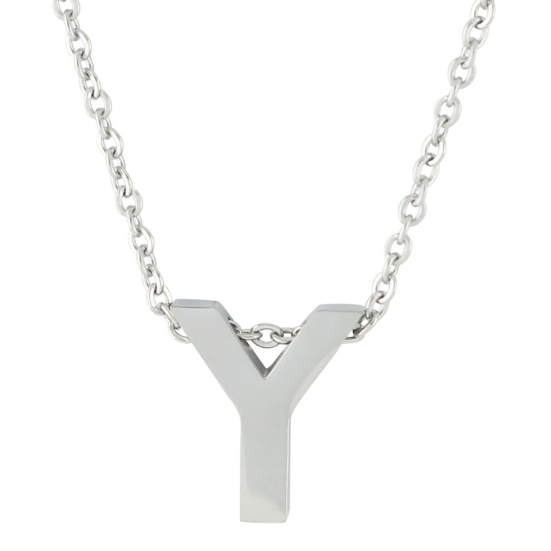 18'' Letter Alphabet Pendant Necklace - Y