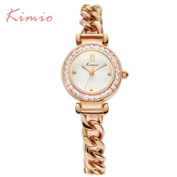 2016 Kimio Luxury Fashion Women's watches Quartz bracelet wristwatches Twisted design Diamond women ladies watches with Gift Box