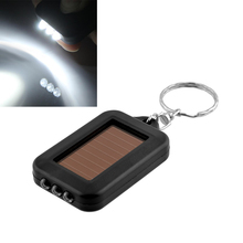 2015 Mini Portable Solar Power 3LED Light Keychain Torch Flash Flashlight Key Ring Gift Rechargeable
