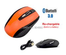 6 Colors 6D Rechargeable Bluetooth 3.0 Mouse Mice Wireless Optical Mouse With Lion Battery For PC Mac Tablet Laptop Multicolor
