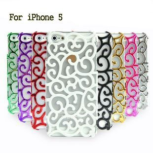 Hot!50% off  Fashion Plating Artistic Palace Flower Case Cover for iPhone 5 Brand New PC hard back cover hollow casefreeshipping