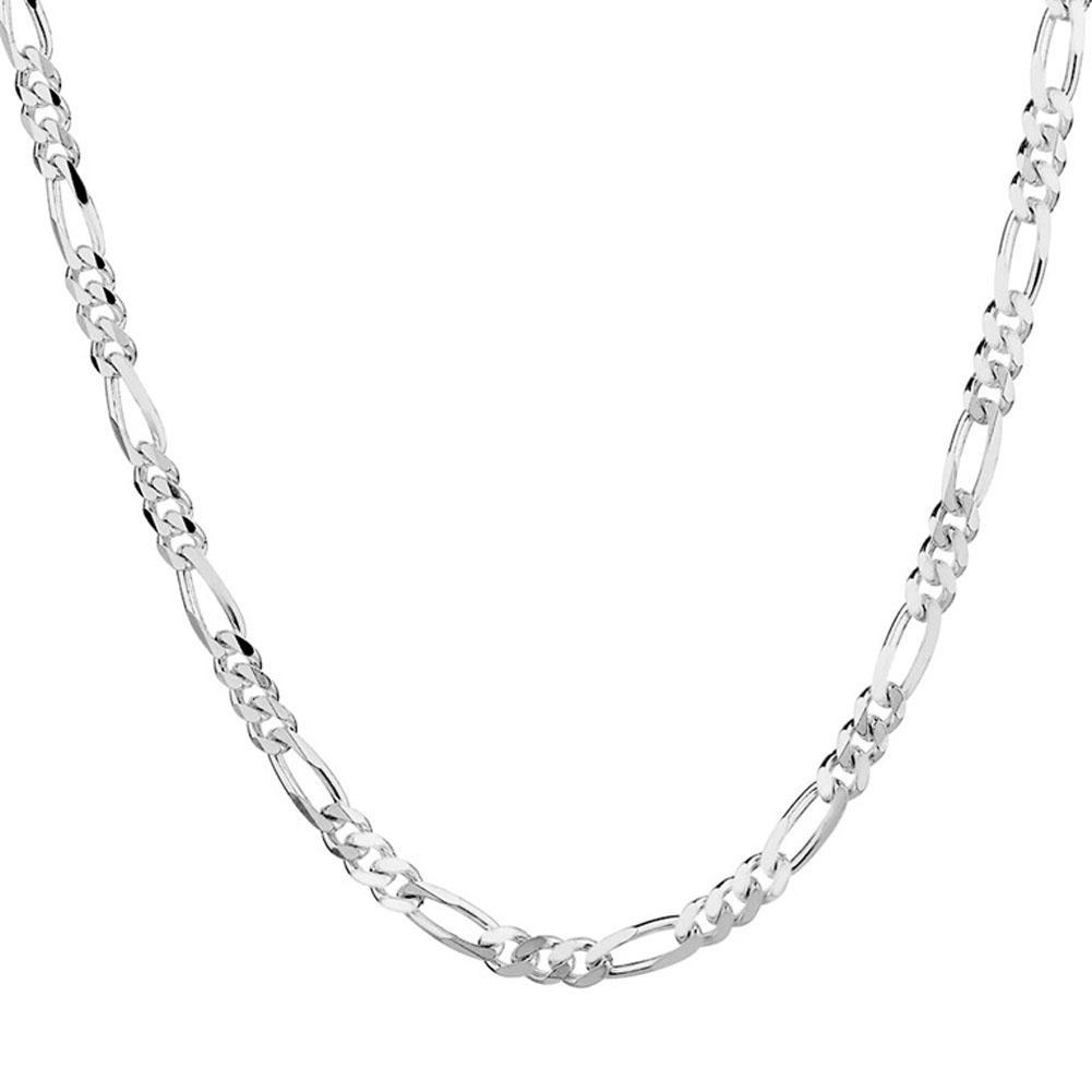 1 шт. 18 - 30 дюймов 2 мм ожерелье посеребренная мода Figaro цепи мужчины италия ожерелье для свадьбы ну вечеринку на день рождения