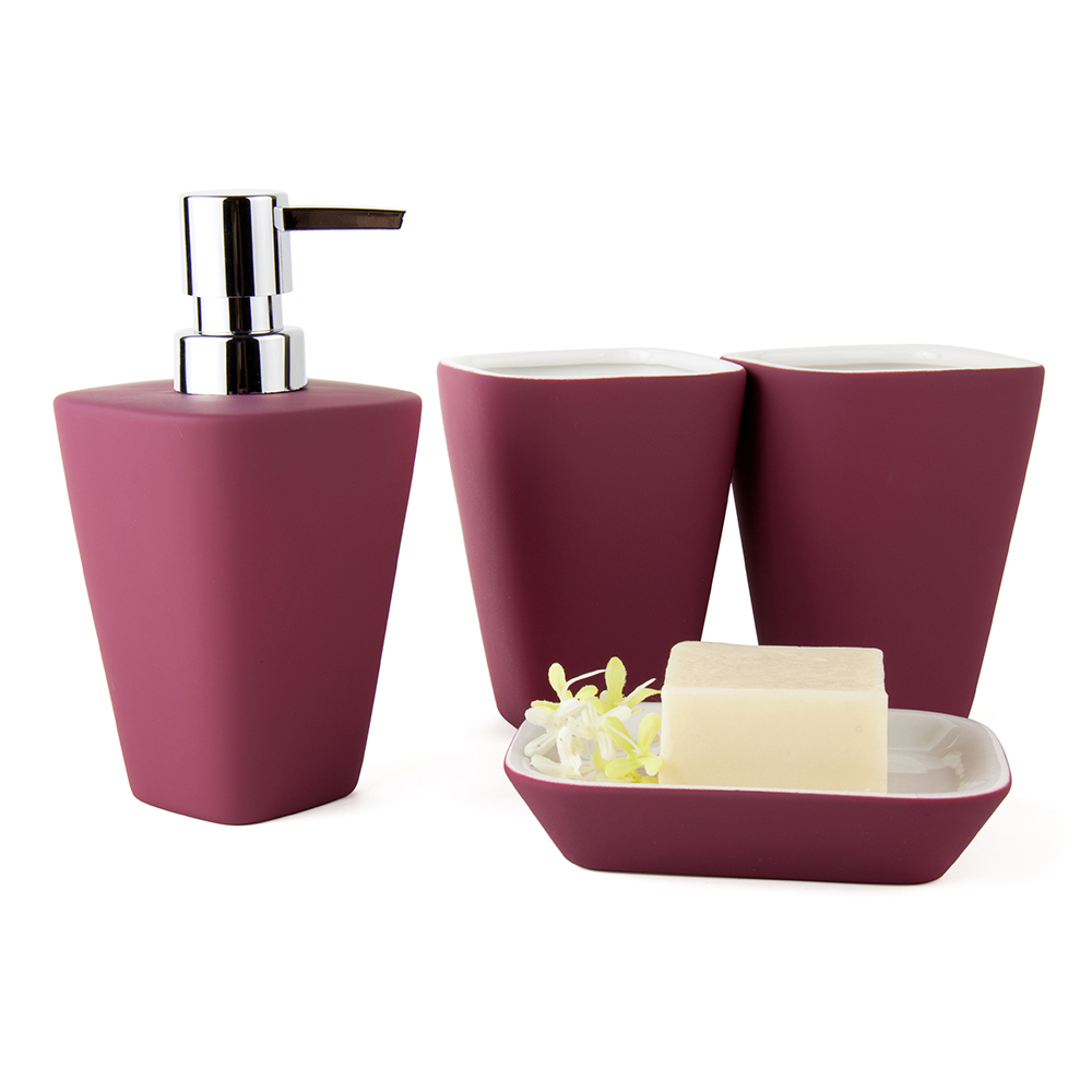 Free shipping ceramic bathroom accessories european for Coloured bathroom accessories set