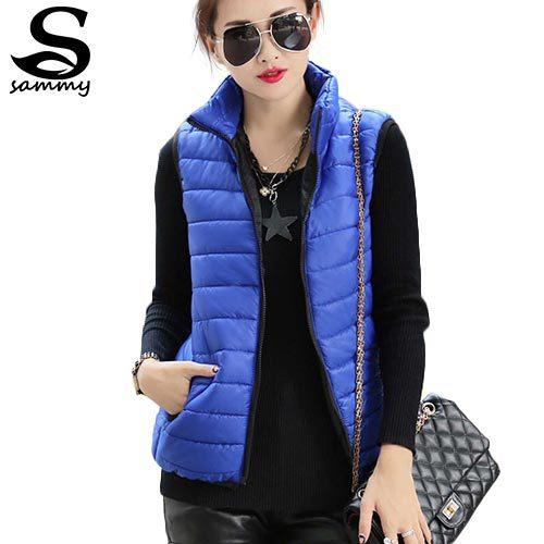 Plus Size Autumn Winter Coat Women Ladies Gilet Colete Feminino Casual Waistcoat Female Sleeveless Cotton Vest Jacket Z36(China (Mainland))