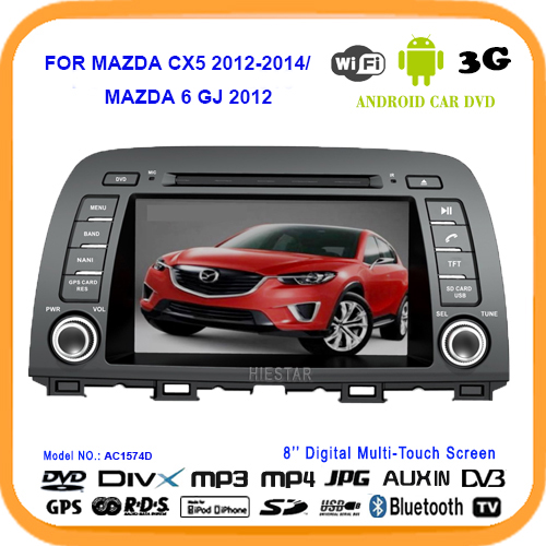 CX5 RDS Car GPS DVD Player Radio Touch Screen 8'' Android 5.1 Quad Band For MAZDA CX-5 CX 5 2012 2014 MAZDA 6 3rd GJ 2012(Hong Kong)