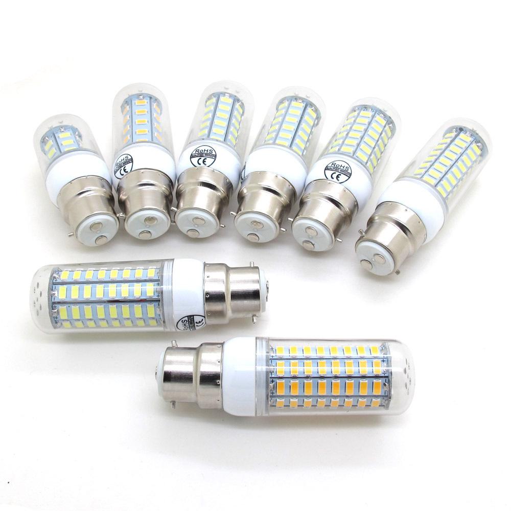 10pcs/lot Lights & Lighting LED Lamp 7W 12W 15W 20W 25W 27W 30W 35W B22 AC 220V 5730SMD Corn Bulb 50Hz Chandelier 240V 230V(China (Mainland))
