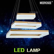 New Arrival Rectangle LED Chandelier Light Fixture Gold or Black Acrylic Suspension Drop Light for Pendant new design room light(China (Mainland))
