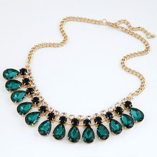 YANA Jewerly 2014 New Fashion jewelry Gem statement Gold Plated chunky Necklaces & Pendants choker necklaces for women