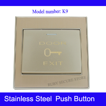 K9 high quality stainless steel 86mm type metal door button access control push exit switch paypal accepted(China (Mainland))
