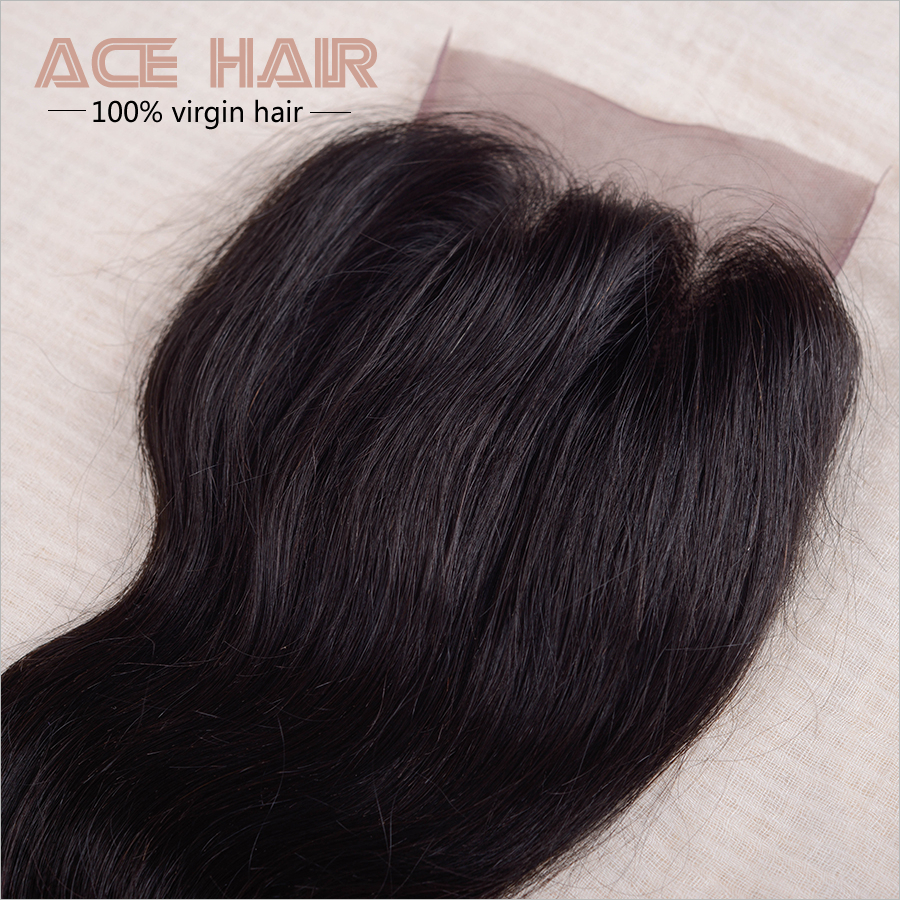 ACE Human Hair With Closure 7a , /3 BC01