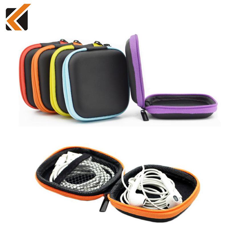 5 Colors PU Leather Zipper Protective Headphone Case Pouch Earphone St