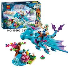 214pcs/set Bela 10500 The Water Dragon Adventure Building Bricks Blocks DIY Educational toys Compatible Lepin Elves 41172 P640(China (Mainland))
