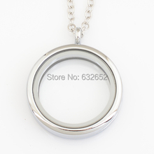 30mm round magnetic floating locket charms, with free 50-55cm chain FN0007(China (Mainland))