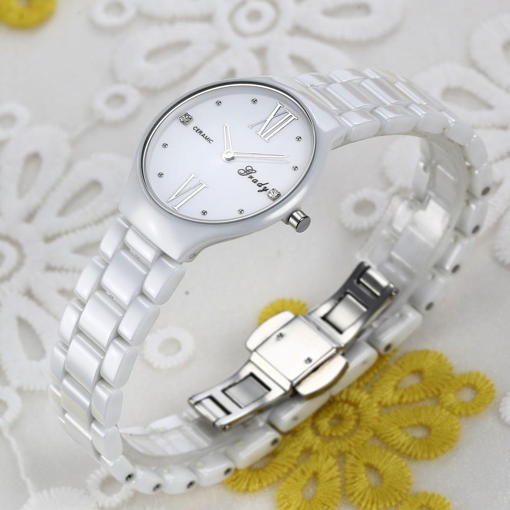 Грейди часы мужчины Рождественский подарок ультра-тонкие керамические Рождественский Подарок часы мужчины люксовый бренд мужская кварцевые часы бесплатная доставка