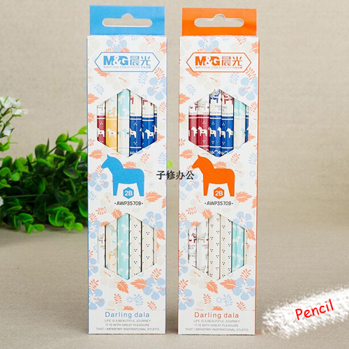 Duolala stationery supplies Korea advanced wooden pencil for school kids students prize writing doodle12pcs/set Oulm wholesale(China (Mainland))