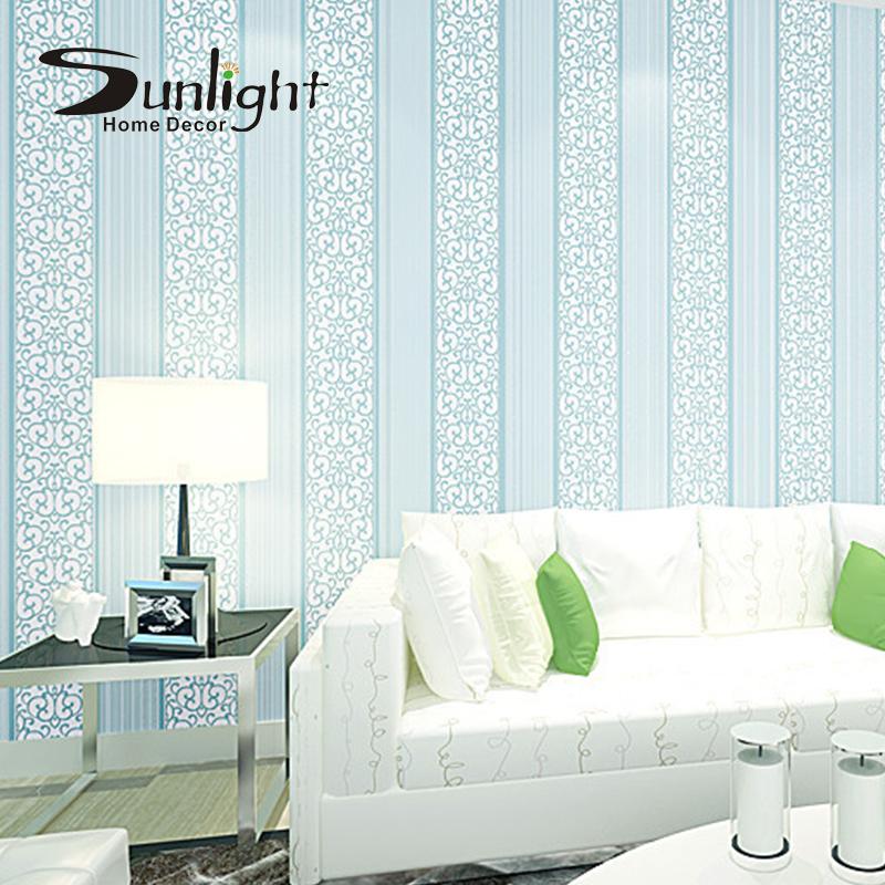 Buy luxury white 3d modern fashion wallpaper letter non for Light blue wallpaper living room