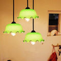 loft Retro Vintage creative pendant lamp with shade glass chandelier single head E27 1 Bulb Included