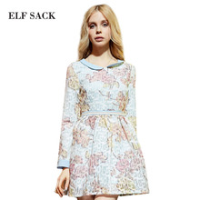 Buy Elf SACK spring rustic vintage long-sleeve young girl print lace one-piece dress female p for $32.99 in AliExpress store