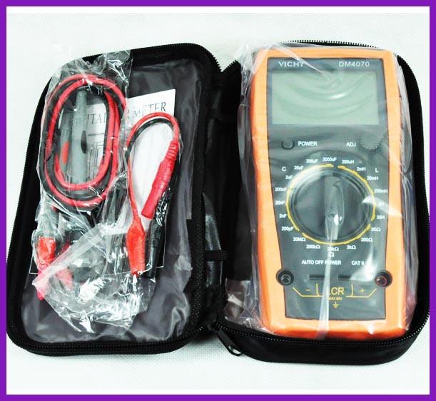 New Dm4070 Digital Multimeter 3 12 20h 2000uf Selfdischarge Inductance Resistance Capacitance Lcr Meter Free Shipping aanbieding