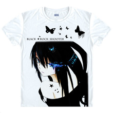 Black Rock Shooter T-shirts kawaii Japanese Anime t-shirt Manga Shirt Cute Cartoon Mato Kuroi Cosplay shirts 37166799598 tee 334