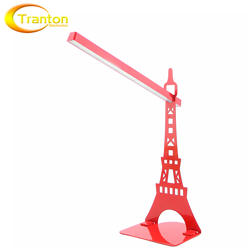 Touch Dimmer USB Led Desk Lamp And Bookshelf Table Lamps Modern Eiffel Tower Reading Lamp For Living Room Bedroom Lights(China (Mainland))