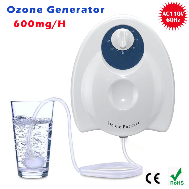 Home sterilizer 220V 110V 600mg/h Ozone Generator Ozonator ionizer O3 Timer Air Purifiers Oil Vegetable Meat Fresh Purify Water<br><br>Aliexpress