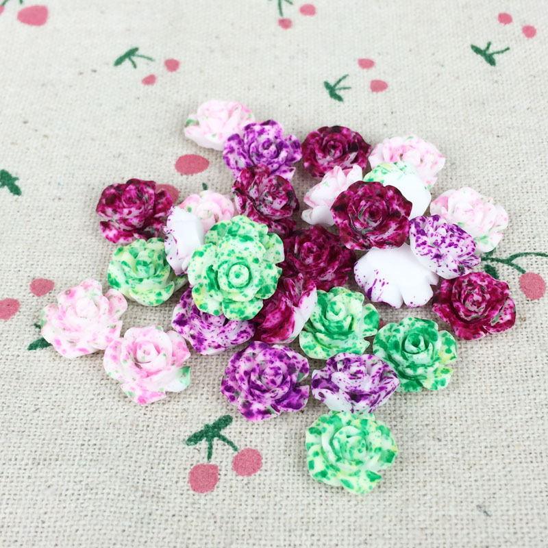100 Pieces Mix Color Flatback Flat Back Resin Flower Cabochon Kawaii DIY Resin Decoration Craft Making Handmade Accessories:13mm(China (Mainland))