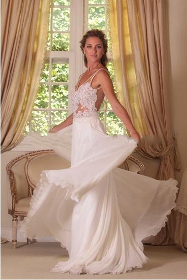 Popular flowy wedding gowns buy cheap flowy wedding gowns for Flowy white wedding dress