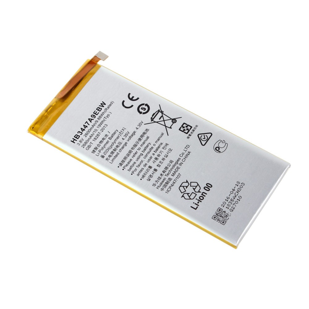 Battery For Huawei Ascend P8 HB3447A9EBW 3.8V 2600mAh Phone Backup Battery
