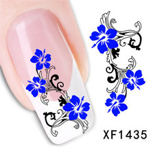 1Pcs Nail Art Water Sticker Nails Beauty Wraps Foil Polish Decals Temporary Tattoos Watermark Free Shipping