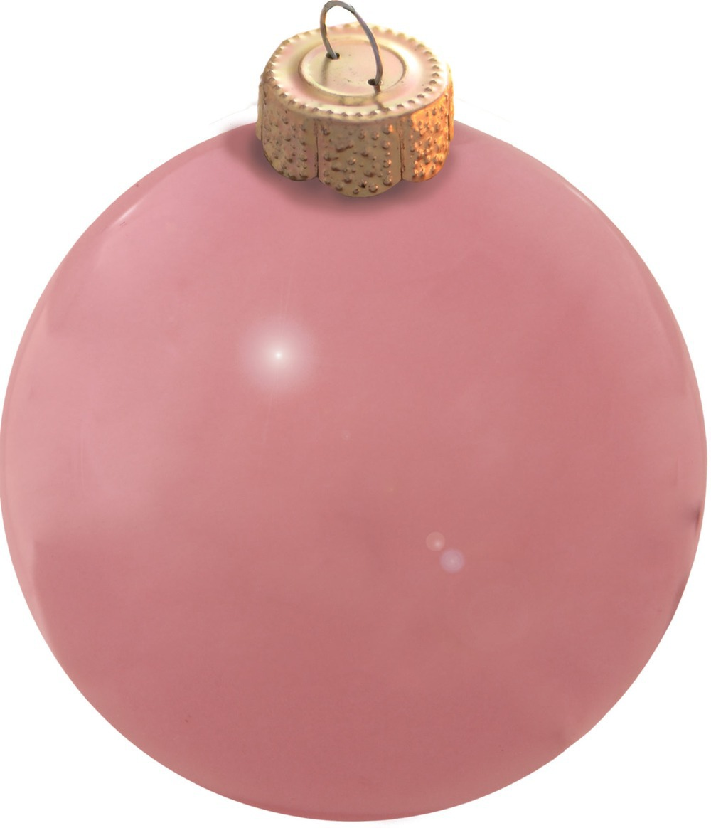 Free Shipping Event Party Bauble Ornaments Christmas Xmas Tree Glass Balls Decoration 80mm Pale Pink Ball Ornament - Pearl(China (Mainland))