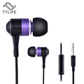 Original TTLIFE Brand 3 5mm Jack Wired Super BassStereo In ear Sport Earphone Noise Cancelling Earbud