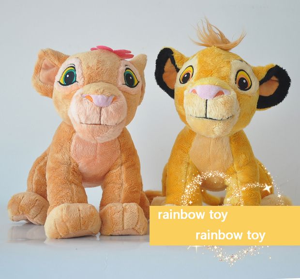high quality Cartoon animation The Lion King lion Plush toy, Simba Plush toy for Children gift Free shipping