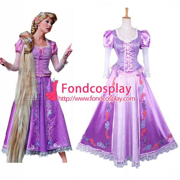 Tangled Rapunzel dress Movie Costume Cosplay Tailor-made Одежда и ак�е��уары<br><br><br>Aliexpress