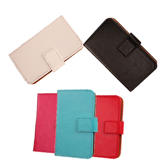 1X Book Design PU Leather Accessories Stylish Pop Cell phone back cover Pure Color Flip Case For Acer Liquid E700(China (Mainland))