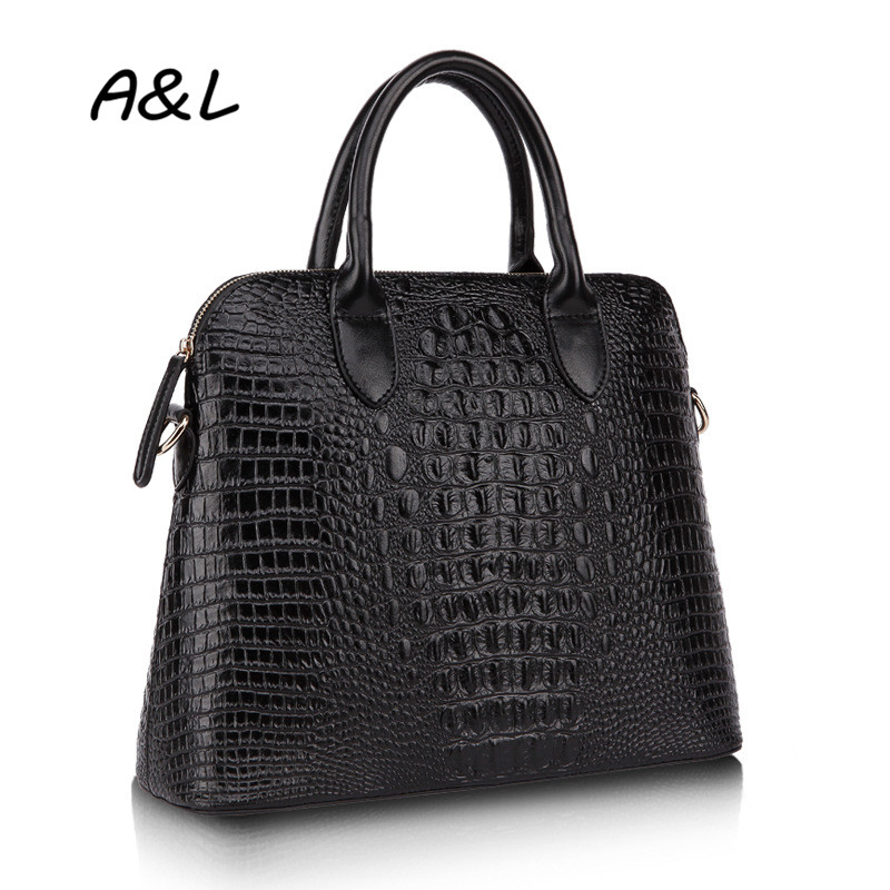 100% Genuine Leather Bag Women Luxury Designer Handbag Famous Brand Tote Fashion Crocodile Pattern Shoulder Messenger Bag A0040(China (Mainland))