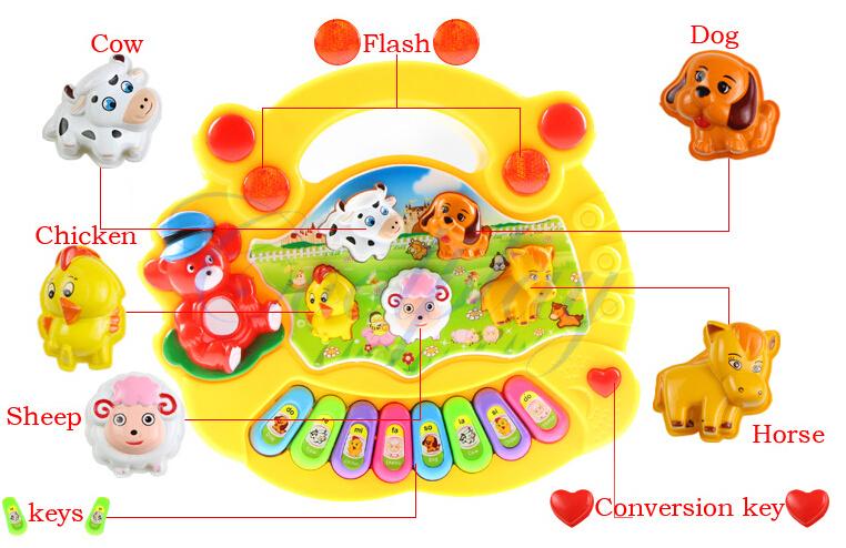 2015 Educational toys electronic organ Animal farm music instrument Baby initiation toy Baby English education toys(China (Mainland))