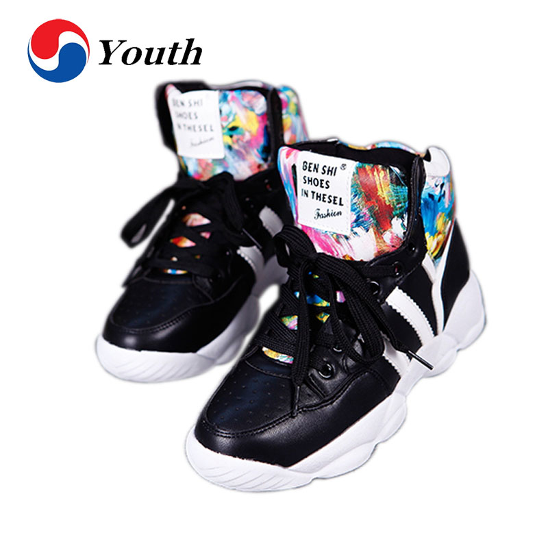 2016 spring women shoes New Invisibility Increase Women Slope With High Top Sport Fashion Casual Ladies Brand Shoes BX070(China (Mainland))