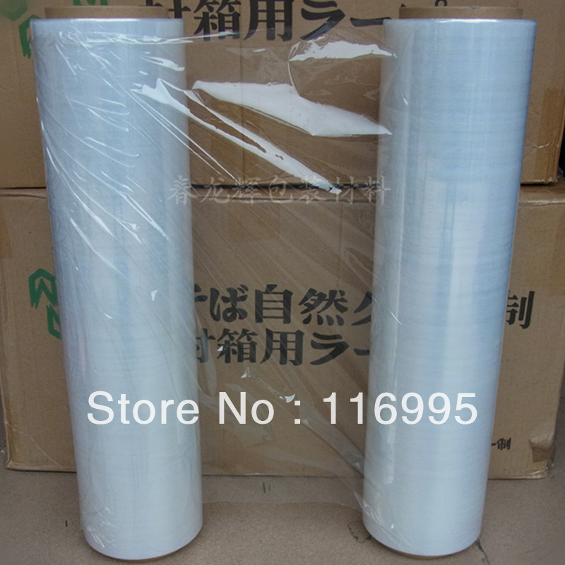 Free shipping Stretch film protective film stretch wrap film carton protective film 45cm 2.4kg /pcs(China (Mainland))