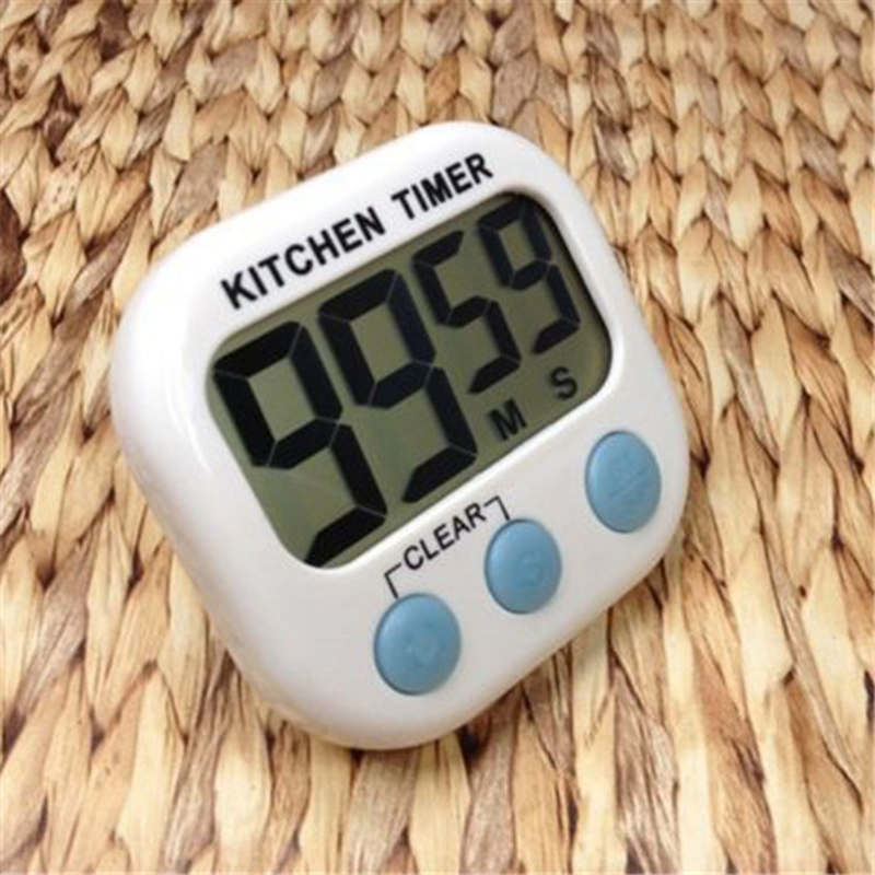 New Large LCD Kitchen Cooking Timer Count-Down Up Clock Loud Alarm Magnetic(China (Mainland))