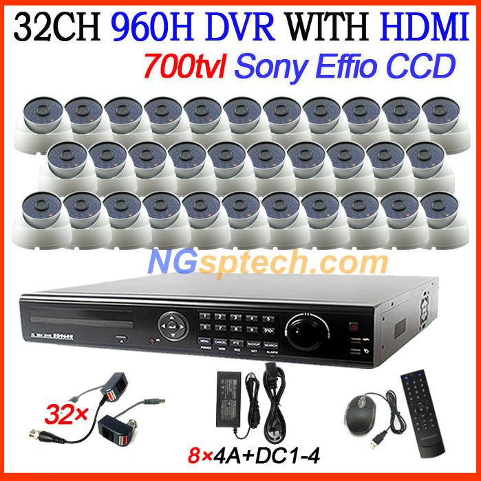 CCTV security DVR recorder 32CH DVR with HDMI 32ch SONY ccd700tvl SONY IR day&amp;night vision cameras dvr CCTV system free shipping<br><br>Aliexpress