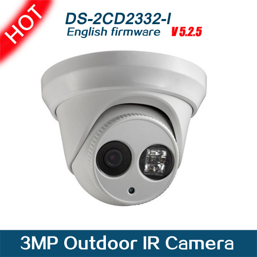 1 pc/lot DHL Free Shipping DS-2CD2332-I 3 Mp outdoor Network 1080P HD mini dome ip camera Support POE for security(China (Mainland))