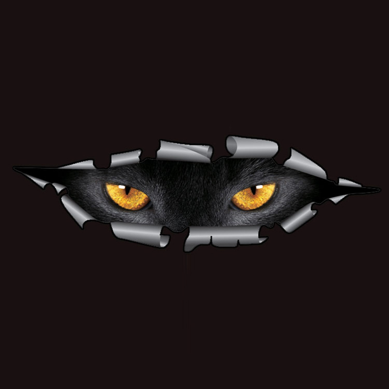Cool 3D Car Styling Funny Cat Eyes Peeking Car Sticker Waterproof Peeking Monster Auto Accessories Whole Body Cover for All Cars(China (Mainland))
