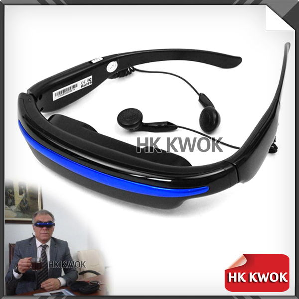 """Hot !!! 4G 52"""" Wide Screen HD 3D Stereo Virtual Video Glasses Eyewear Mobile Theater 4:3 Free Shipping F20(China (Mainland))"""