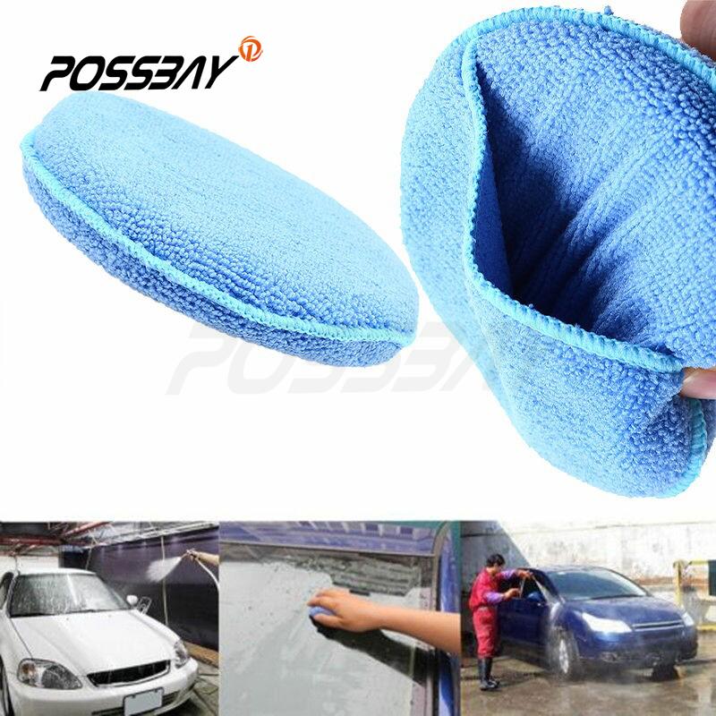 1PCS/5PCS Car Washer Microfiber Wax Applicator Polishing Sponges Pads Blue Round Sponges Motorcycles Bike Car Clearing Tools(China (Mainland))
