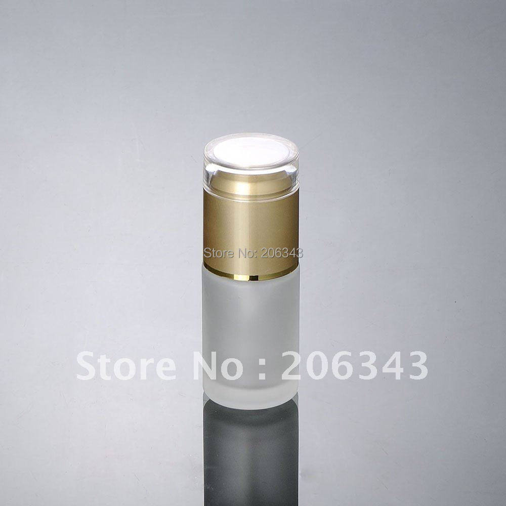 Ml Frosted Glass Jar Gold Lid